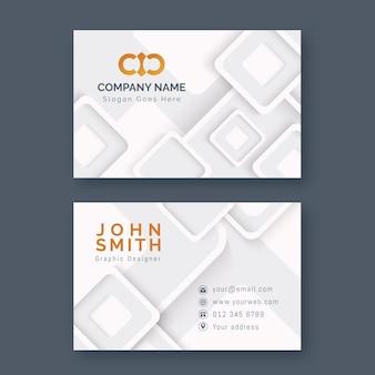 Plantilla de tarjeta de visita minimalista neumorph