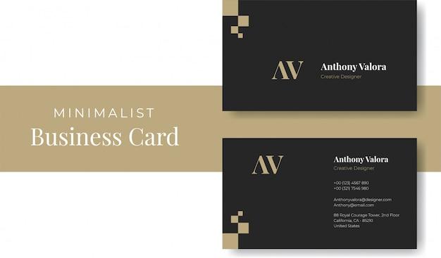 Plantilla de tarjeta de visita minimalista