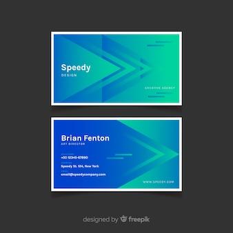 Plantilla de tarjeta de visita - modelos degradados abstractos