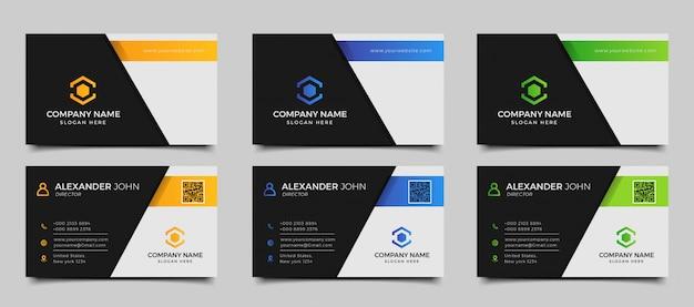 Plantilla de tarjeta de visita moderna creativa y limpia
