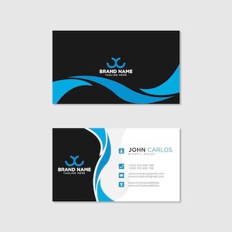 Plantilla de tarjeta de visita moderna, creativa y limpia