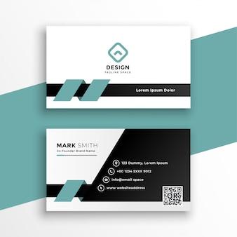 Plantilla de tarjeta de visita moderna de estilo limpio