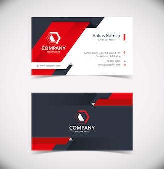 Plantilla de tarjeta de visita moderna con forma geométrica