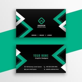 Plantilla de tarjeta de visita moderna con formas geométricas