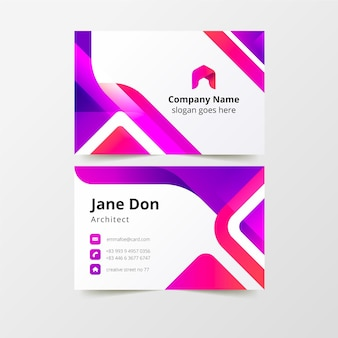 Plantilla de tarjeta de visita moderna