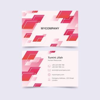 Plantilla de tarjeta de visita monocromática abstracta