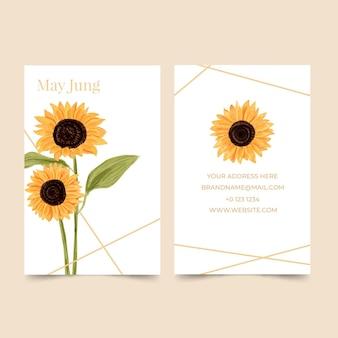 Plantilla de tarjeta de visita con motivos naturales
