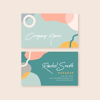 Plantilla de tarjeta de visita multicolor de manchas