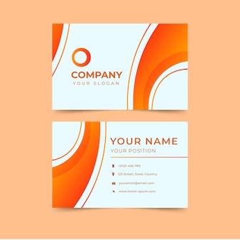 Plantilla de tarjeta de visita naranja abstracta moderna