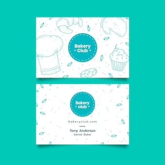 Plantilla de tarjeta de visita de negocios para club de panadería