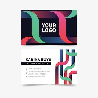 Plantilla de tarjeta de visita de negocios colorido abstracto
