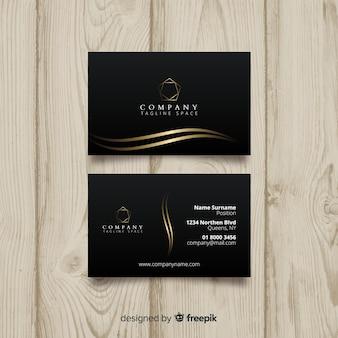 Plantilla de tarjeta de visita negra elegante