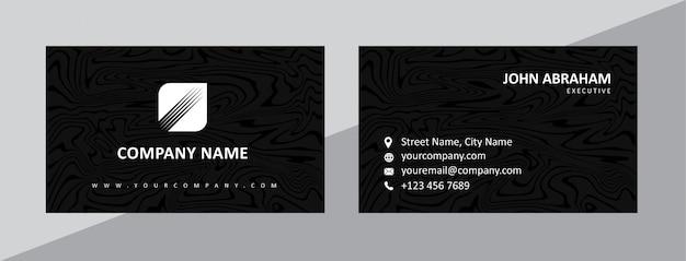 Plantilla de tarjeta de visita negra natural dinámica