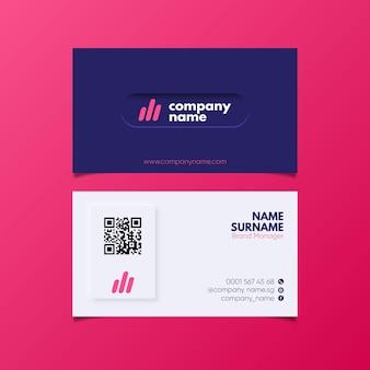 Plantilla de tarjeta de visita neumorph