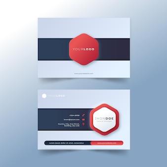 Plantilla de tarjeta de visita de neumorph