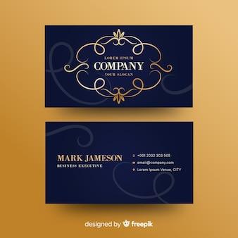 Plantilla de tarjeta de visita ornamental gorlden
