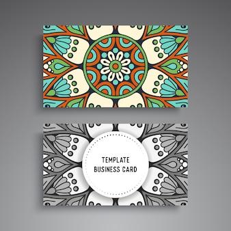 Plantilla de tarjeta de visita ornamental mandala