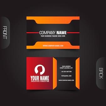 Plantilla de tarjeta de visita oscura creativa y limpia moderna vector