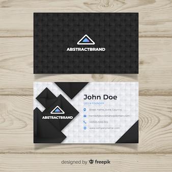 Plantilla de tarjeta de visita oscura con diseño abstracto