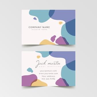 Plantilla de tarjeta de visita pastel abstracto