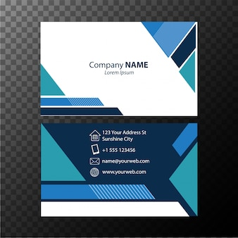 Plantilla de tarjeta de visita con patrón azul