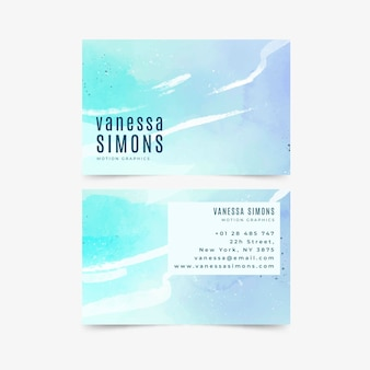 Plantilla de tarjeta de visita pintada a mano