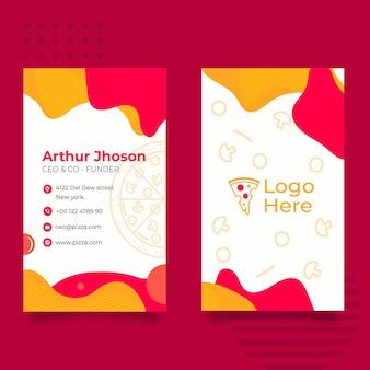 Plantilla de tarjeta de visita para pizzería