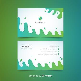 Plantilla de tarjeta de visita plantilla abstracta