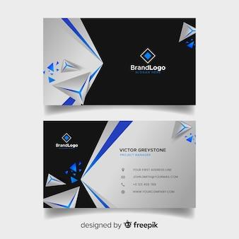 Plantilla de tarjeta de visita poligonal abstracta