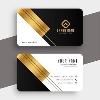 Plantilla de tarjeta de visita premium de lujo dorado