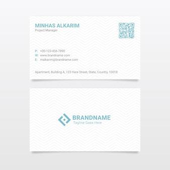 Plantilla de tarjeta de visita profesional corporativa