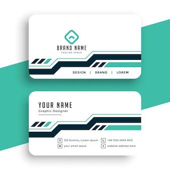 Plantilla de tarjeta de visita profesional elegante