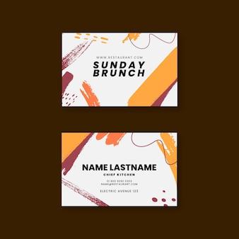 Plantilla de tarjeta de visita de restaurante brunch