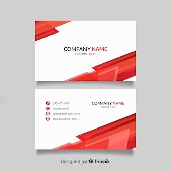 Plantilla de tarjeta de visita roja y blanca