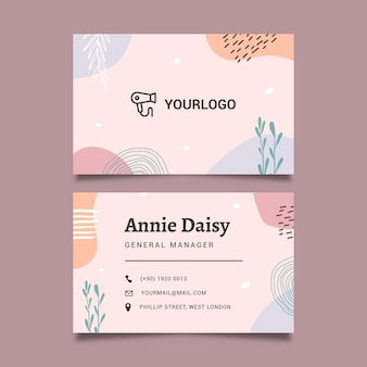 Plantilla de tarjeta de visita de salón de belleza
