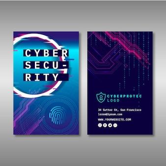Plantilla de tarjeta de visita de seguridad cibernética