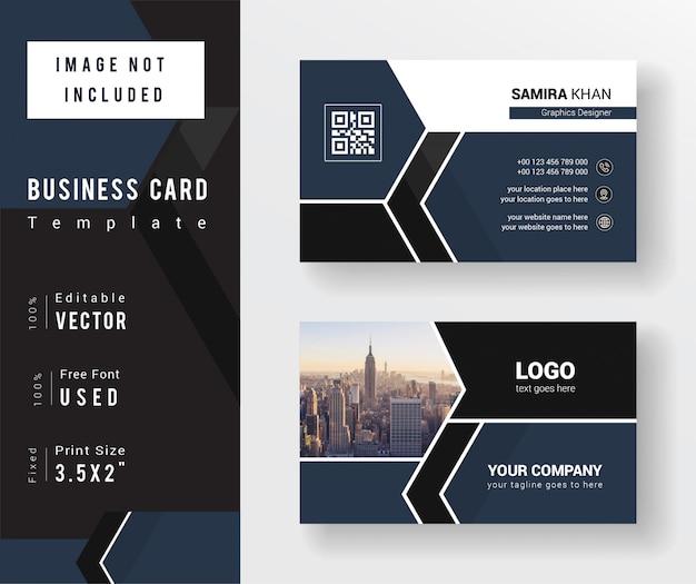 Plantilla de tarjeta de visita simple y limpia