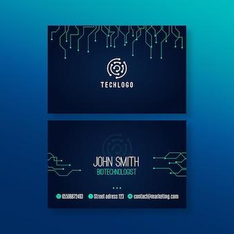 Plantilla de tarjeta de visita de tecnología y futuro