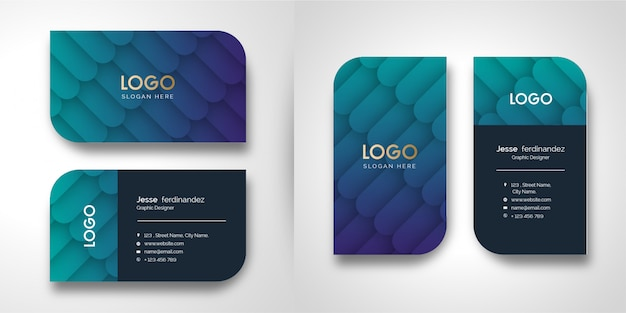 Plantilla de tarjeta de visita con textura abstracta