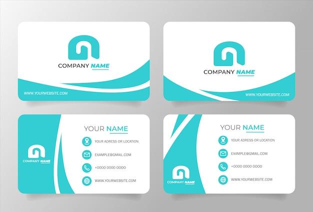 Plantilla de tarjeta de visita tosca blanco. diseño vectorial moderno