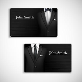 Plantilla de tarjeta de visita de traje de hombre de negocios