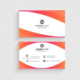 Plantilla de tarjeta de visita de vector creativo y limpio