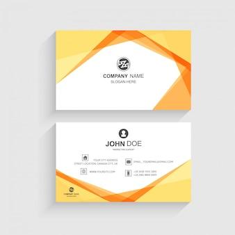 Plantilla de tarjeta de visita vector de diseño de onda creativa