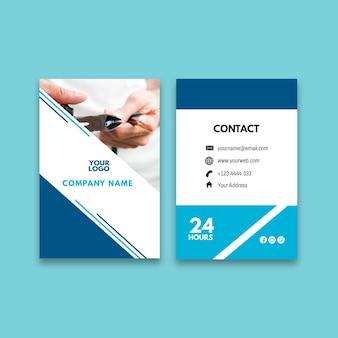 Plantilla de tarjeta de visita vertical de anuncio de electricista
