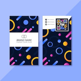 Plantilla de tarjeta de visita vertical colorida