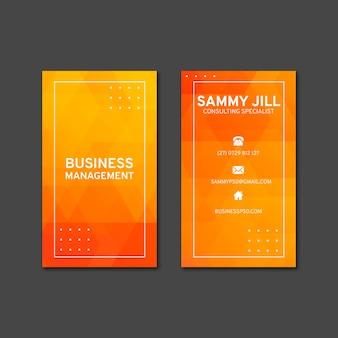 Plantilla de tarjeta de visita vertical empresaria