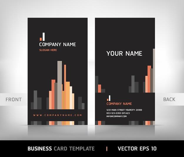 Plantilla de tarjeta de visita vertical