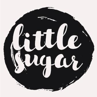 Plantilla de tarjetas de amor o patrones de pegatinas frase caligráfica para su diseño dibujado a mano de azúcar pequeña ...