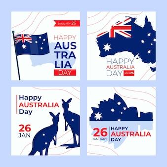 Plantilla de tarjetas de felicitación del día de australia