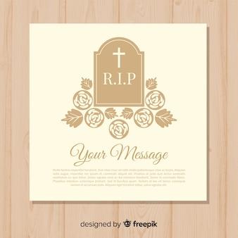 Plantilla de tarjetas funerarias